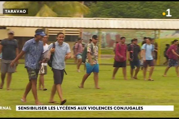 Les élèves du lycée de Taravao sensibilisés aux violences conjugales