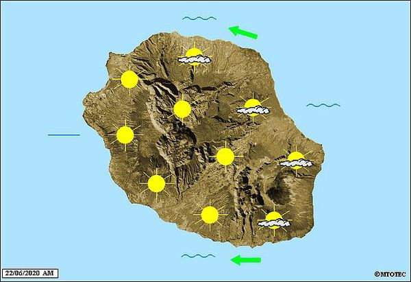 Carte météo 22 juin 2020