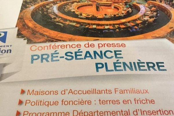 CP - Pré-séance plénière Conseil Départemental