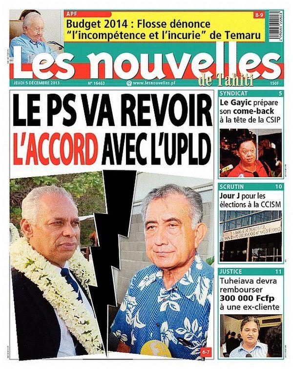 Les nouvelles de tahiti