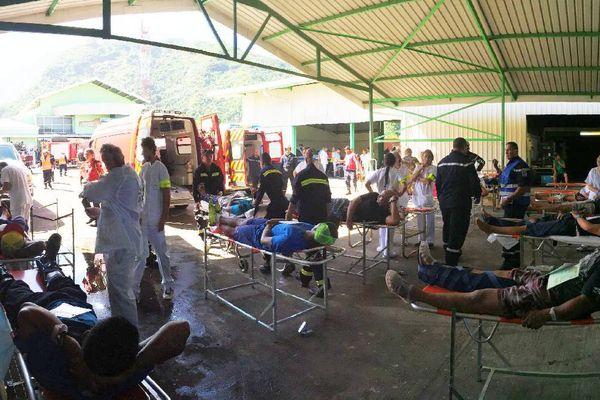 Un centre de secours d'urgence a été érigé