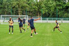 Joueurs de la Martinique à l'entraînement pour la Gold Cup aux États-Unis (Juillet 2021).