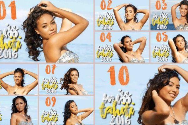 Votez pour les candidates à Miss Tahiti 2016