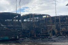 Incendie du dépôt de bus à Grand Bois 28/8/2021