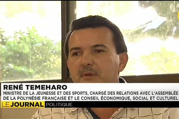 René Temeharo, nouveau ministre de la jeunesse et des sports