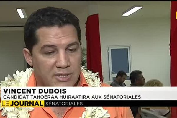Vincent Dubois, candidat Tahoeraa aux sénatoriales