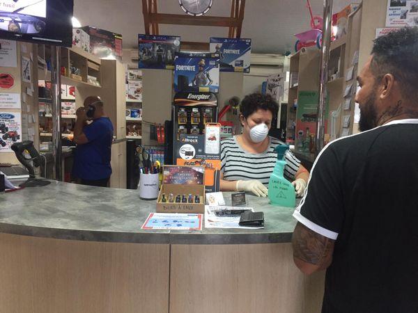Un magasin de Bourail face au coronavirus, 23 mars 2020