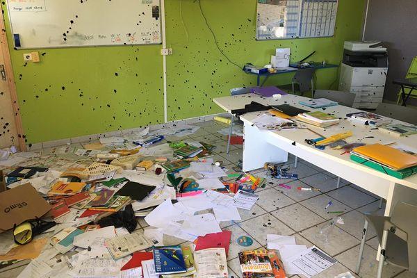 Vandalisme collège Poum 1