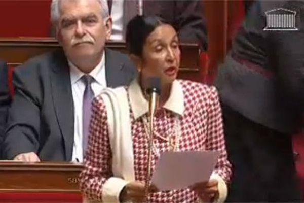 Huguette Bello à l'Assemblée nationale le 7 janvier 2014
