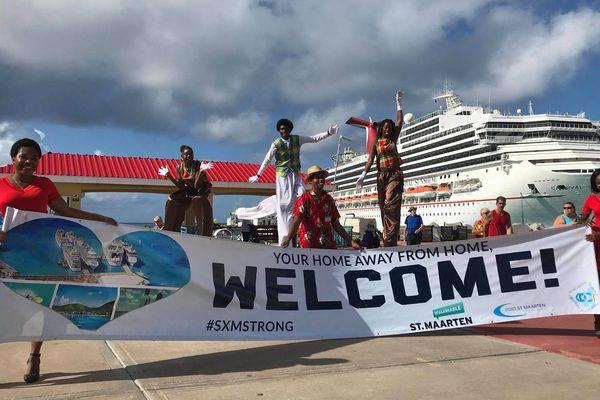 Accueil croisiéristes Sint Maarten
