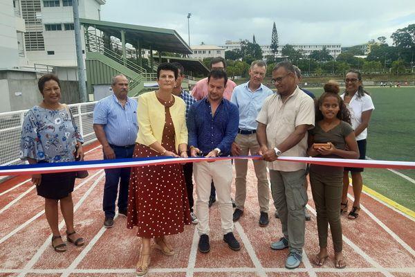 inauguration piste athlétisme PLGC