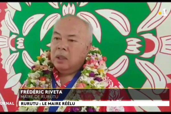 Cinquième mandat pour Frédéric Riveta à Rurutu