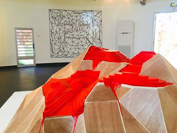 Expo «la faim des totems» de Nicolas Molé au centre culturel de Voh, septembre 2019