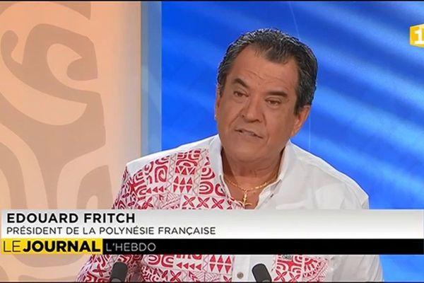 Edouard Fritch : « je ne travaille pas pour mon parti comme monsieur Flosse, je travaille pour mon pays »