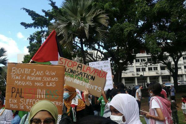 Manifestation pro-palestinienne à Saint-Denis