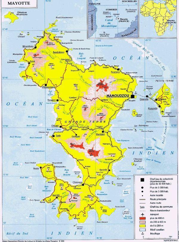 Carte de Mayotte