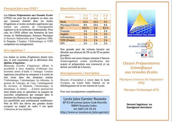 Lycée Jules Garnier : classes préparatoires scientifiques aux grandes écoles