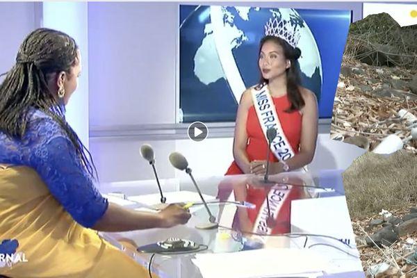 Miss France choquée par la pollution à Mayotte