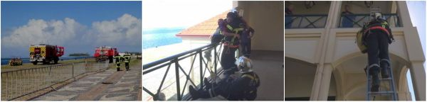 Exercice pour les pompiers de Uturoa