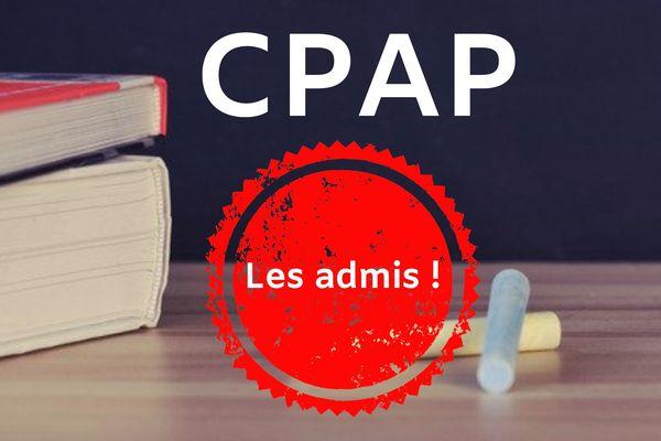 La liste des candidats admis au CPAP
