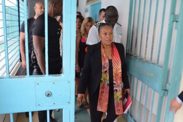 La ministre de la Justice en Martinique
