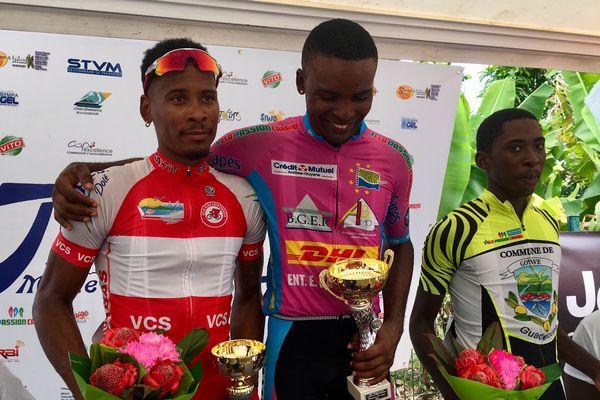 Podium de la deuxième étape du Tour Cycliste de Marie-Galante