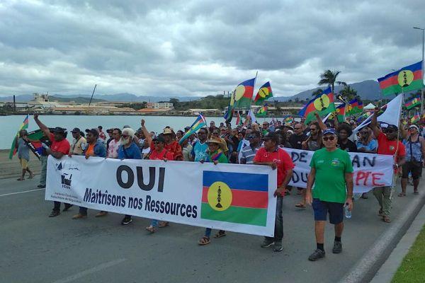 Mobilisation Ican / Usine du Sud- usine pays à Nouméa avec USTKE, 30 octobre 2020