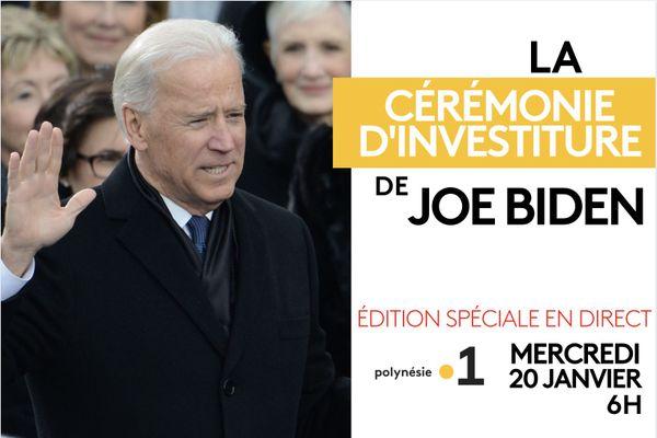 Investiture de Joe Biden en direct sur Polynésie la 1ère