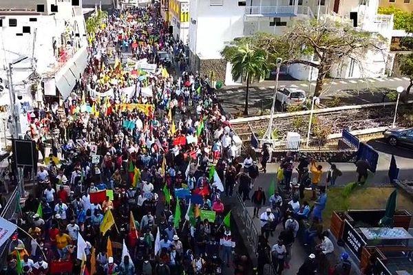 Manifestation à l'île Maurice contre les lois covid samedi 11 juillet 2020