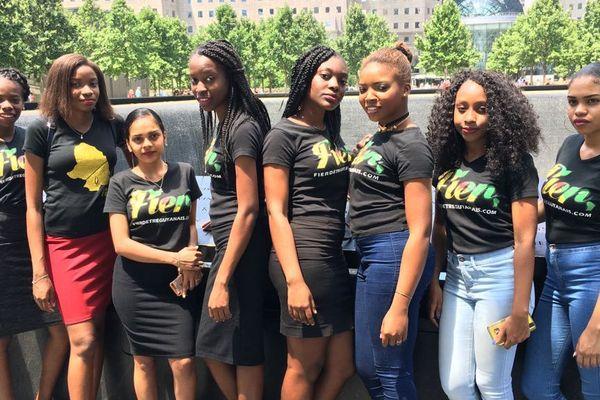 Les stagiaires devant le World Trade Center