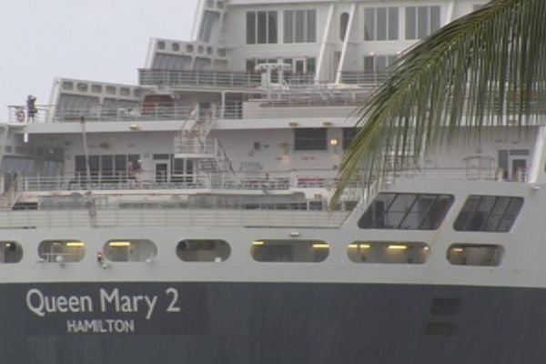 arrivée Queen Mary 2
