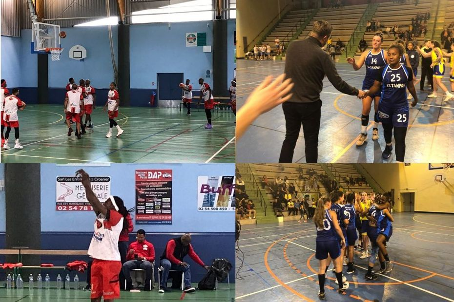 Coupe de France de basket : victoire de la Tamponnaise et du Ban-é-Lot en 16e de finale - Outre-mer la 1ère