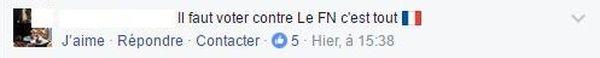 Commentaire Facebook Pro Le Pen