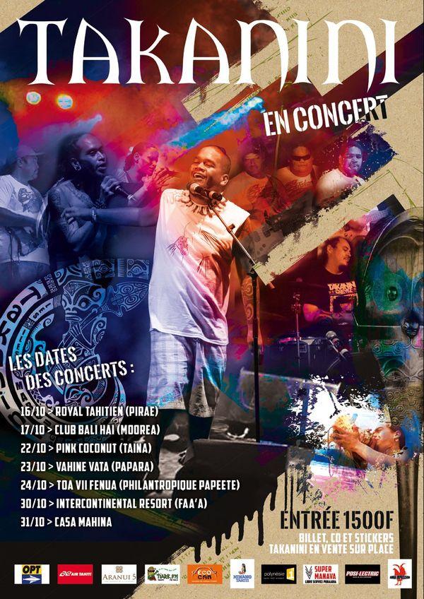 Affiche concert Takanini