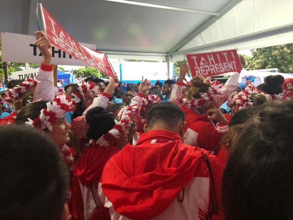 samoa 2019 - délégation tahitienne