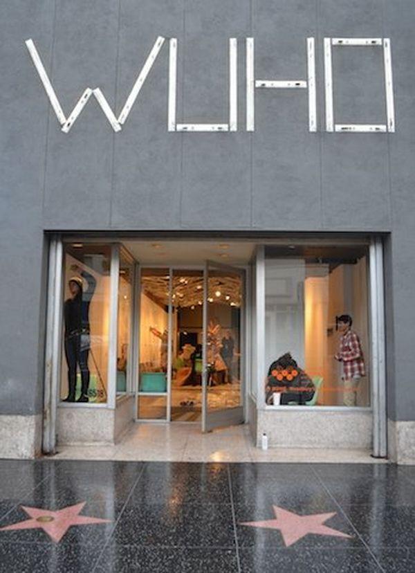 La galerie WUHO sur Hollywood Boulevard