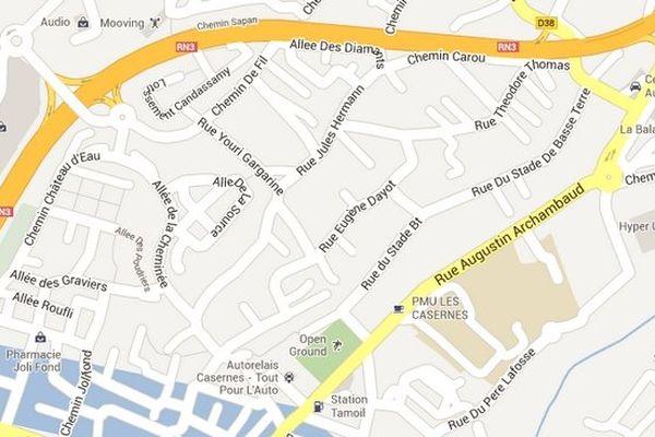 "Maps - Basse-Terre ""Rue Jules Hermann"""