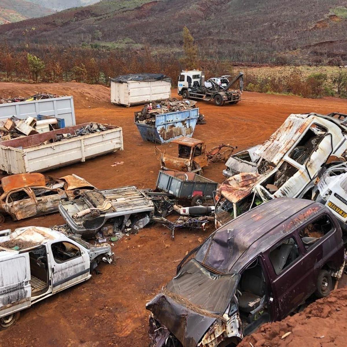Une montagne de déchets dégagée au Mont-Dore