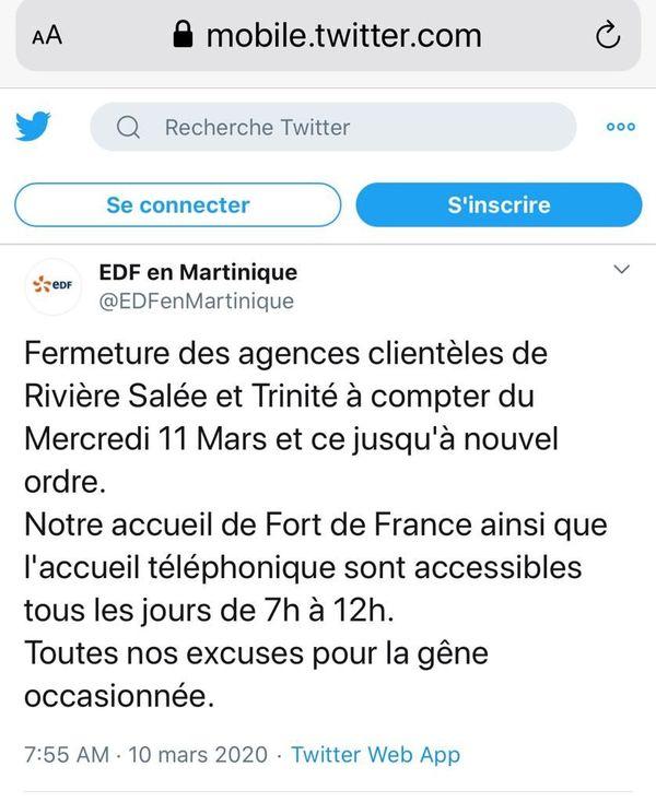Tweet EDF