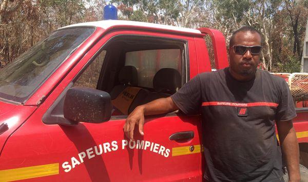 Franky Danehote, le seul pompier pro de Poum, novembre 2019.