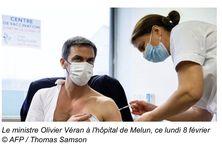 Le ministre de la santé Olivier Véran vacciné ce lundi 8 février 2021