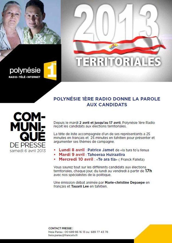 CP Polynesie 1ere radio donne la parole aux candidats