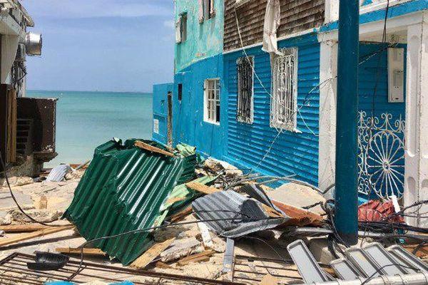 Saint-Martin, une semaine après le passage d'Irma.
