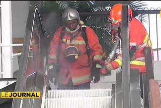 Début d'incendie dans l'escalator du centre Vaima