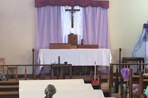 """Intérieur de la chappelle """"Christ-Roi"""""""