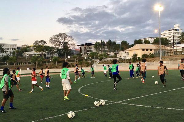 Dernier entraînement de l'AS Lössi avant finale coupe de Calédonie (PLGC, 20 octobre 2017)