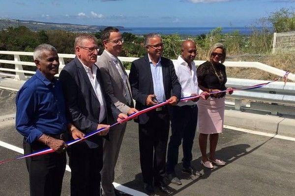 Saint-Paul inauguration pont de la Ravine La Plaine 141218