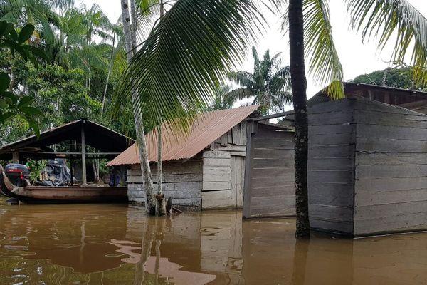 Inondations sur le Maroni
