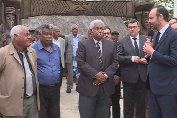 Edouard Philippe en Calédonie Nouméa Sénat coutumier 1 er décembre 2017