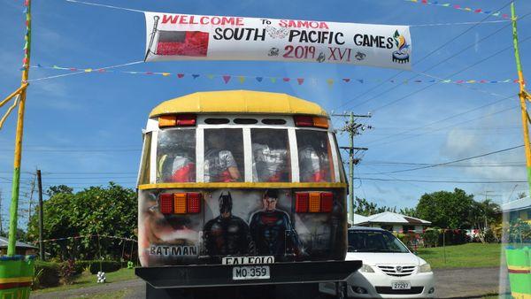 Samoa 2019, village calédonien, 6 juillet 2019